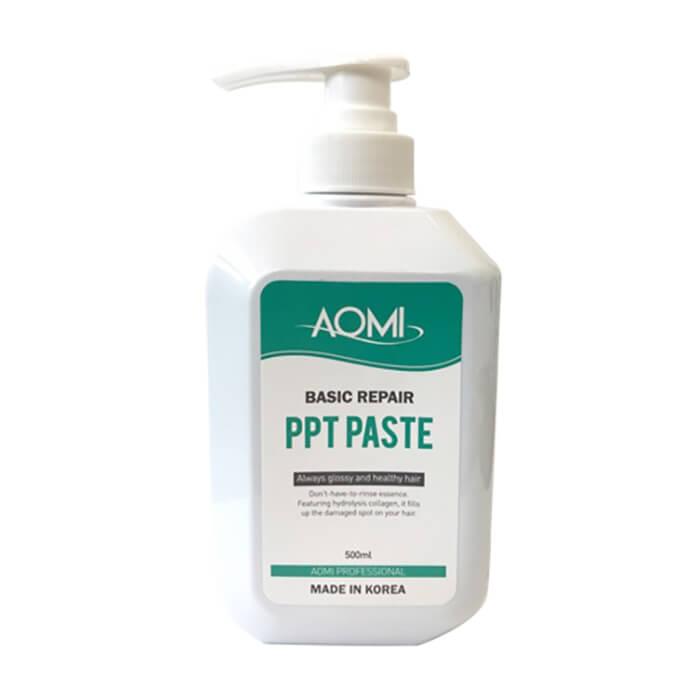 Купить Маска для волос AOMI Basic Repair PPT Paste, Маска с гидролизованным кератином для восстановления повреждённых волос, Южная Корея