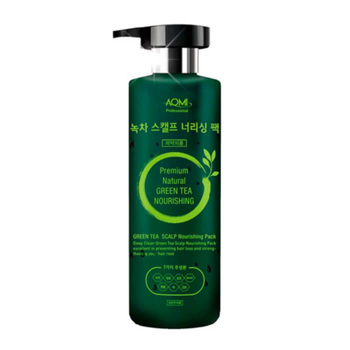 Купить Маска для волос AOMI Green Tea Scalp Nourishing Pack, Маска для волос и кожи головы с экстрактом зелёного чая, Южная Корея