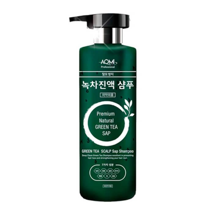 Купить Шампунь для волос AOMI Green Tea Leaf Extract Shampoo, Шампунь для волос экстрактом листьев зелёного чая, Южная Корея