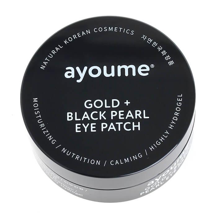 Купить Патчи для век Ayoume Gold + Black Pearl Eye Patch, Патчи от тёмных кругов под глазами с золотом и чёрным жемчугом, Южная Корея