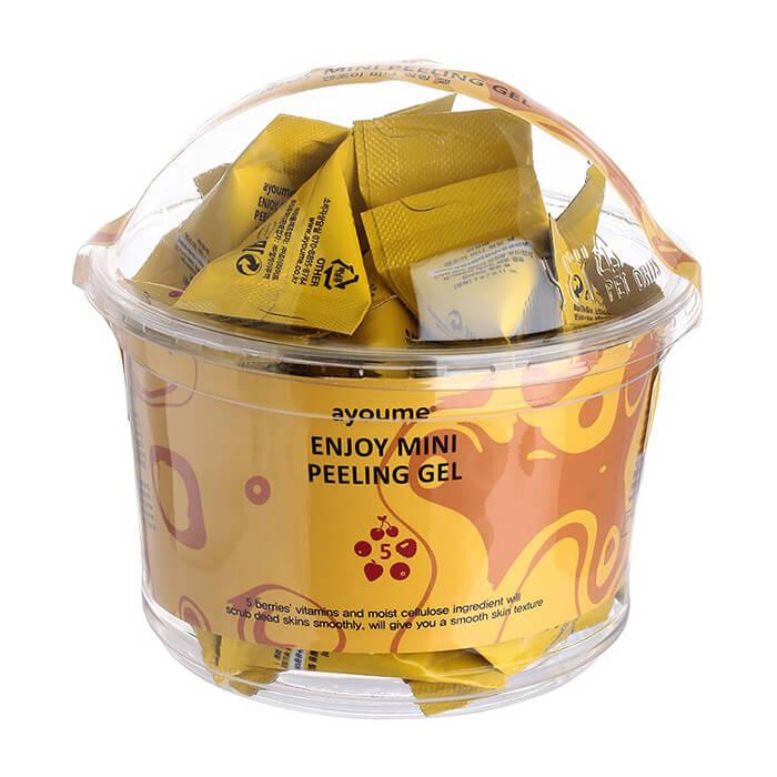 Купить Пилинг для лица Ayoume Enjoy Mini Peeling Gel (30 шт.), Ягодный гель-пилинг для кожи лица в индивидуальных упаковках, Южная Корея
