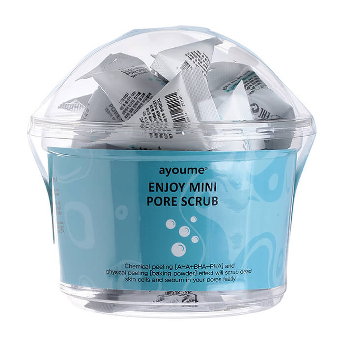 Купить Скраб для лица Ayoume Enjoy Mini Pore Scrub (30 шт.), Очищающий пилинг-скраб для кожи лица в индивидуальных упаковках, Южная Корея