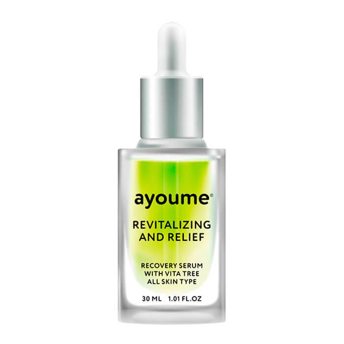 Купить Сыворотка для лица Ayoume Vita Tree Revitalizing & Relief Serum, Восстанавливающая сыворотка для лица с экстрактом зелёного чая, Южная Корея