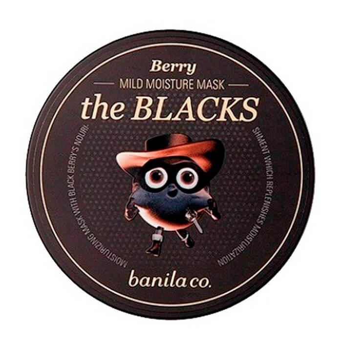 Купить Ночная маска Banila Co. The Blacks Mild Moisture Mask - Berry, Увлажняющая ночная маска для лица с экстрактом ягод ежевики, Южная Корея
