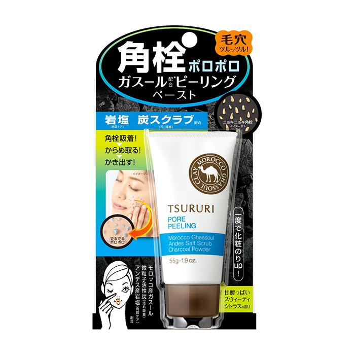 Купить Пилинг для очищения пор BCL Tsururi Pore Clear, Очищающий поры пилинг для кожи лица с марокканской глиной Гассуль, Япония