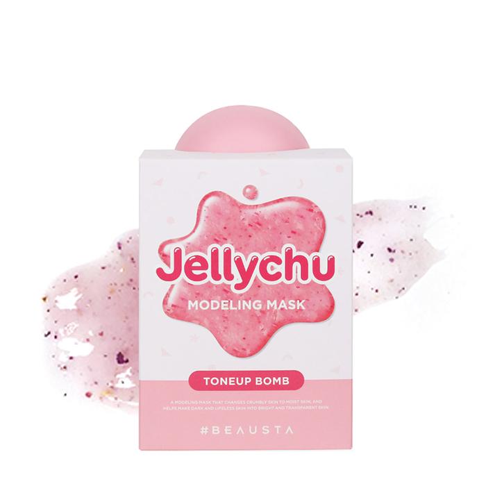 Купить Альгинатная маска Beausta Jellychu Modeling Mask Tone-Up Bomb, Моделирующая тонизирующая маска для лица с экстрактом жасмина и дамасской розой, Южная Корея