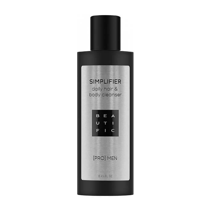 Купить Шампунь и гель для душа Beautific Simplifier Daily Hair & Body Cleanser, Мужской шампунь-гель для очищения кожи тела и волос, США
