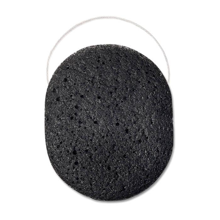 Спонж конняку для лица Beautific Black Sponge For Acne Prone And Problematic Skin Спонж конняку c бамбуковым углем для очищения и отшелушивания кожи лица фото