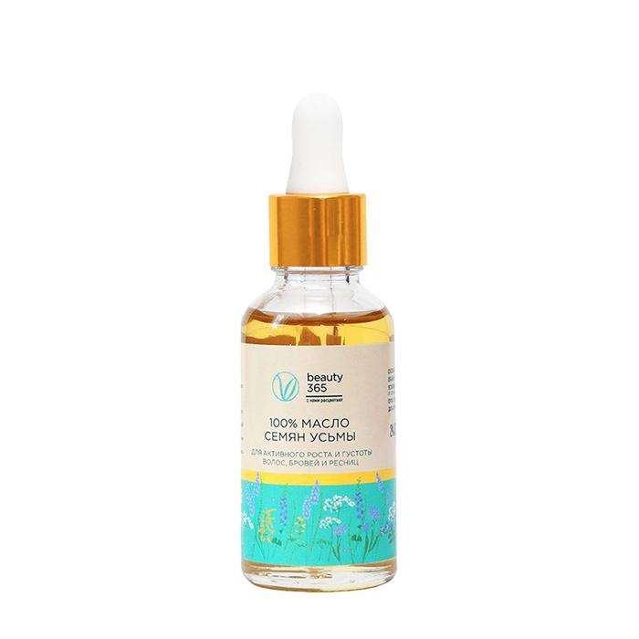 Купить Масло усьмы Beauty 365 Usma Oil, 100% натуральное масло усьмы для стимуляции роста волос, Россия