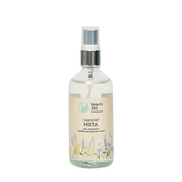Купить Гидролат мяты Beauty 365 Mint Hydrolat, 100% гидролат мяты для ухода за кожей лица и головы, Россия