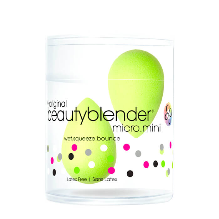 Спонжи для макияжа Beautyblender Micro.Mini Маленькие зелёные спонжи для макияжа каплеобразной формы фото