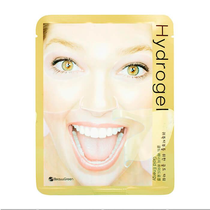 Купить Гидрогелевая маска BeauuGreen Hydrogel Gold Energy Mask, Гидрогелевая маска для лица с наночастицами коллоидного золота, Южная Корея
