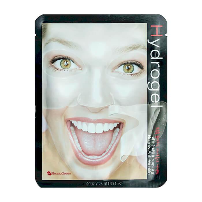 Купить Гидрогелевая маска BeauuGreen Hydrogel Renew Anti-Wrinkle Mask, Антивозрастная гидрогелевая маска для лица, Южная Корея