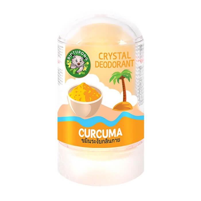 Дезодорант Binturong Crystal Deodorant Curcuma Кристаллический натуральный дезодорант для тела с экстрактом куркумы фото