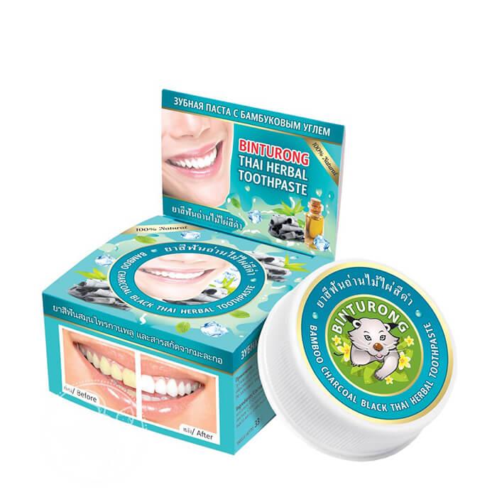 Зубная паста Binturong Bamboo Charcoal Black Thai Herbal Toothpaste