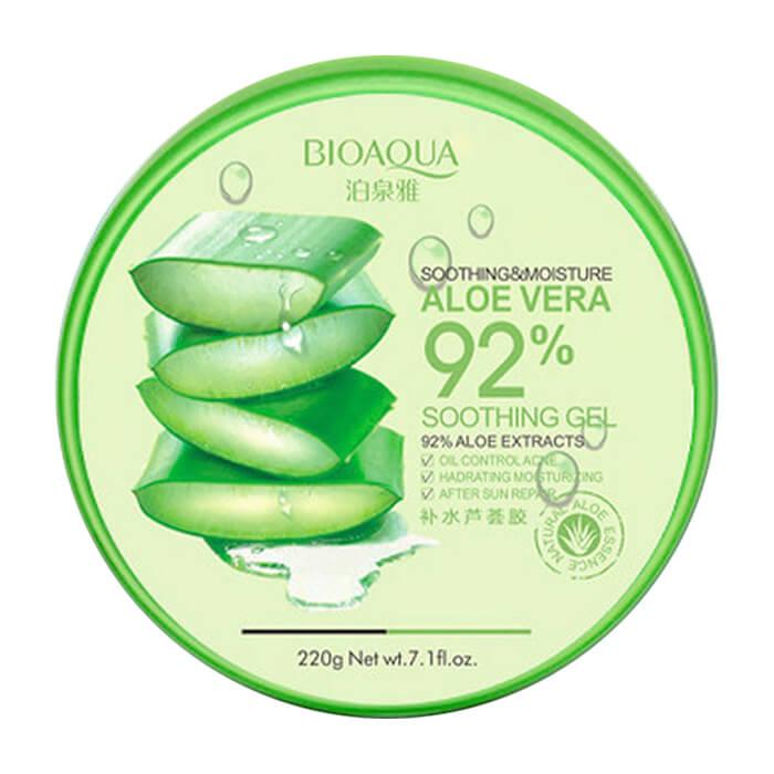 Купить Гель с алоэ BioAqua Natural Skin Care Refresh & Moisture Aloe Vera 92% Gel, Многофункциональный гель для кожи и волос с натуральным соком алоэ вера, Китай