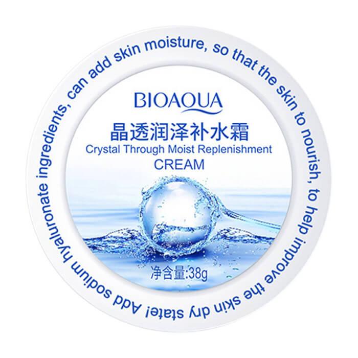 Крем для лица BioAqua Crystal Through Moist Replenishment Cream Увлажняющий питательный крем для кожи лица с гиалуроновой кислотой фото