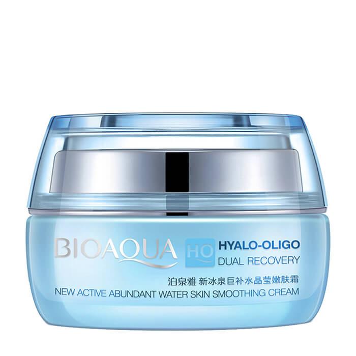 Крем для лица BioAqua Hyalo-Oligo Dual Recovery New Active Abundant Water Skin Smoothing Cream Увлажняющий крем для кожи лица с олигомером гиалуроновой кислоты фото