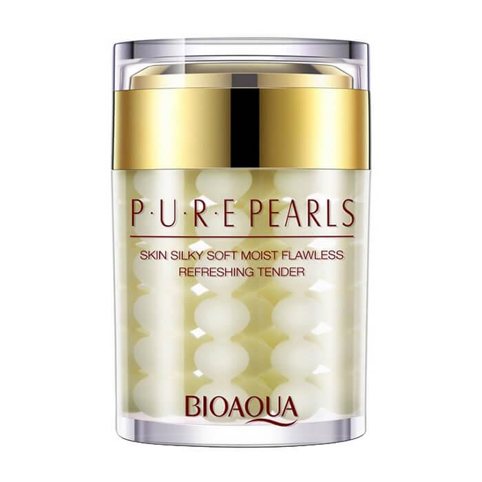 Купить Крем для лица Bioaqua Pure Pearls Cream, Увлажняющий крем для лица с натуральной жемчужной пудрой, Китай