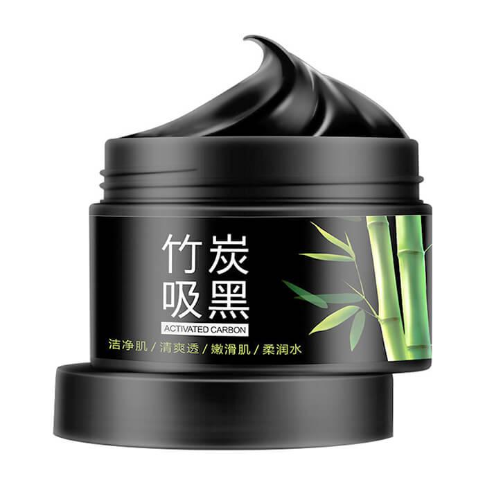 Маска для лица BioAqua Activated Carbon Purifying Mask Маска для очищения пор и отшелушивания кожи на основе бамбукового угля фото