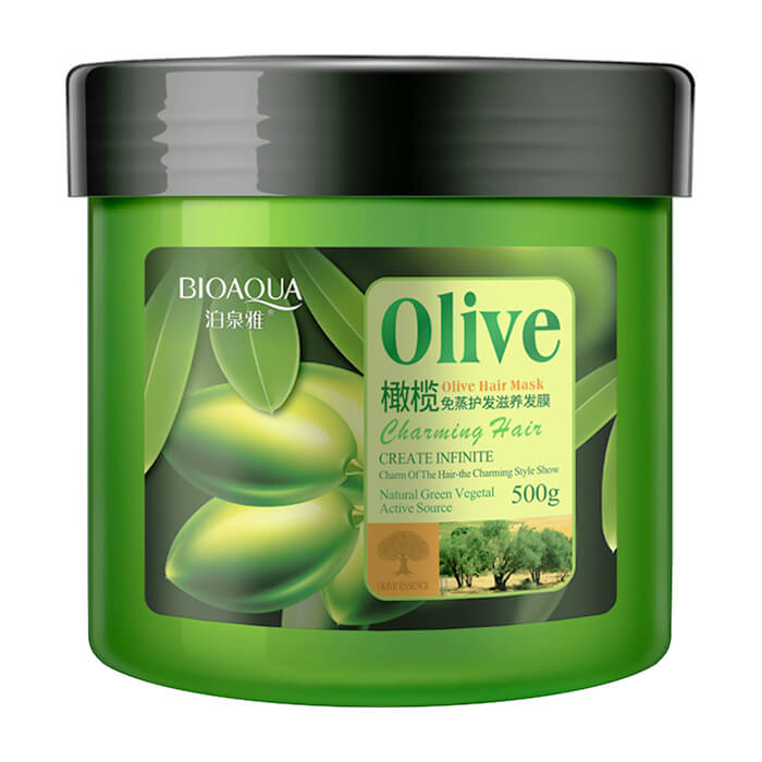 Купить Маска для волос BioAqua Charming Hair Olive Hair Mask, Маска для интенсивного питания и восстановления волос с маслом оливы, Китай