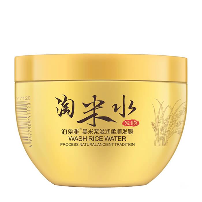 Купить Маска для волос BioAqua Wash Rice Water Hair Mask, Питательная смягчающая маска-кондиционер для волос с чёрным рисом, Китай
