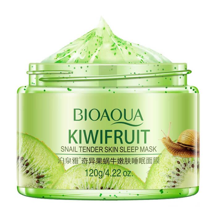Купить Ночная маска Bioaqua Kiwifruit Snail Tender Skin Sleep Mask, Ночная маска-детокс для лица с киви и улиточным муцином, Китай