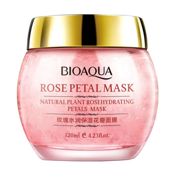 Купить Ночная маска Bioaqua Rose Petal Mask, Ночная смягчающая маска для обезвоженной кожи лица с лепестками роз, Китай