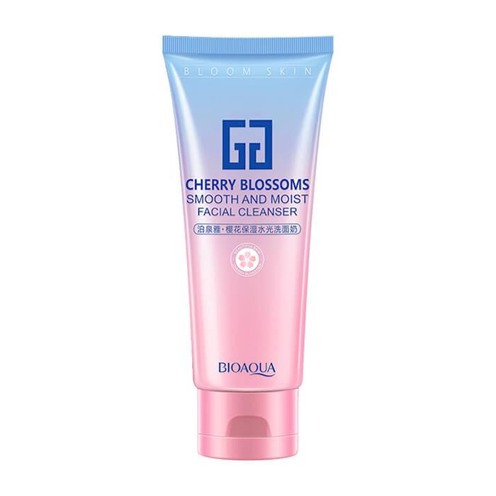 Купить Пенка для умывания BioAqua Cherry Blossom Smooth And Moist Facial Cleanser, Воздушная очищающая пенка для умывания кожи лица с экстрактом вишни, Китай