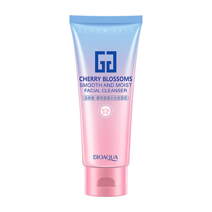 Пенка для умывания BioAqua Cherry Blossom Smooth And Moist Facial Cleanser Воздушная очищающая пенка для умывания кожи лица с экстрактом вишни фото
