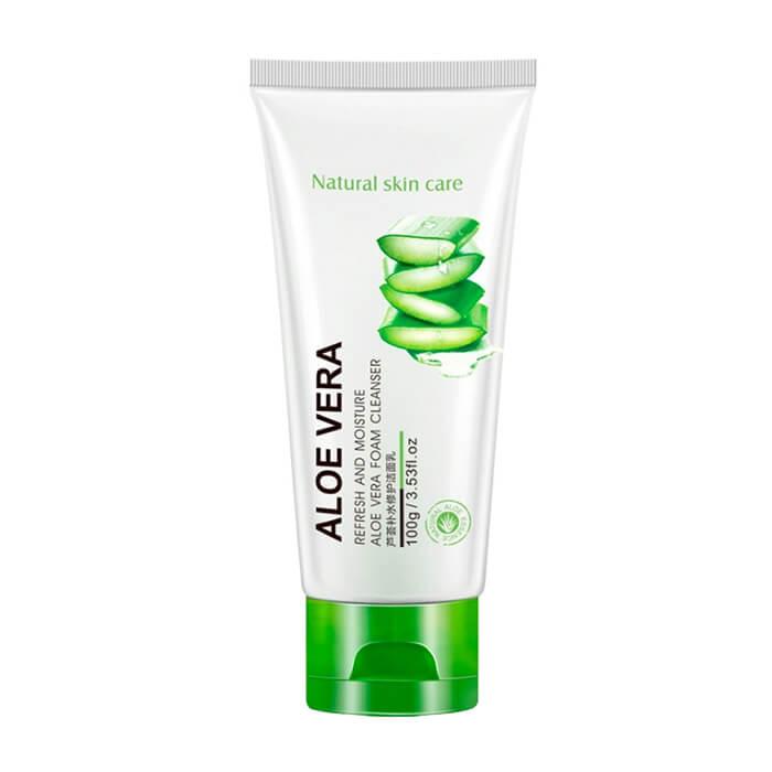 Купить Пенка для умывания Bioaqua Refresh & Moisture Aloe Vera Foam Cleanser, Увлажняющая пенка для очищения кожи лица с экстрактом алоэ вера, Китай