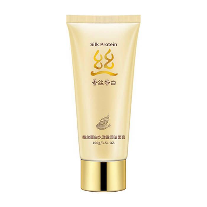 Купить Пенка для умывания BioAqua Silk Protein Aqua Shiny Cleanser, Пенка для умывания и деликатного отшелушивания кожи лица с протеинами шёлка, Китай