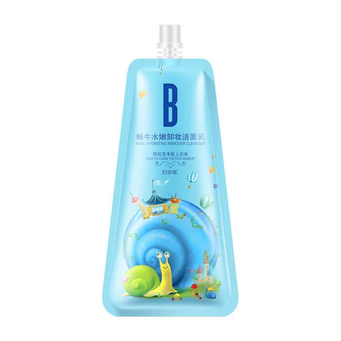 Купить Пенка для умывания BioAqua Snail Hydrating Remover Cleanser, Очищающая пенка для умывания и восстановления кожи лица с муцином улитки, Китай