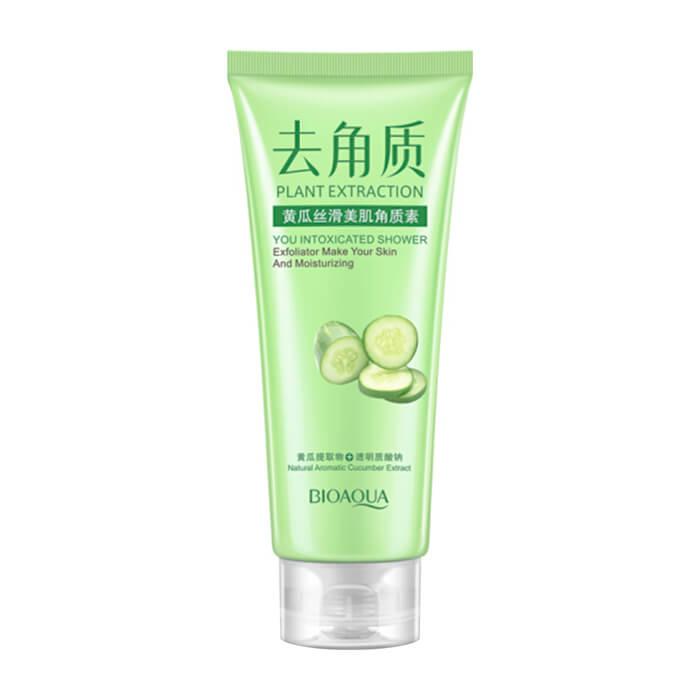 Купить Пилинг для лица BioAqua Plant Extraction You Intoxicated Shower Exfoliator Cucumber, Очищающий гель-скатка для глубокого очищения кожи лица с ароматом огурца, Китай