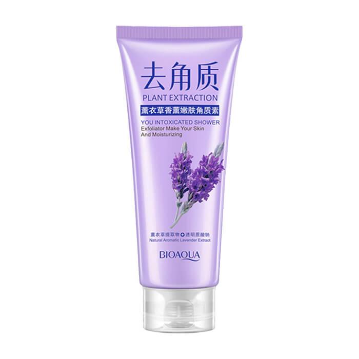 Пилинг для лица BioAqua Plant Extraction You Intoxicated Shower Exfoliator Lavender Очищающий гель-скатка для глубокого очищения кожи лица с ароматом лаванды фото
