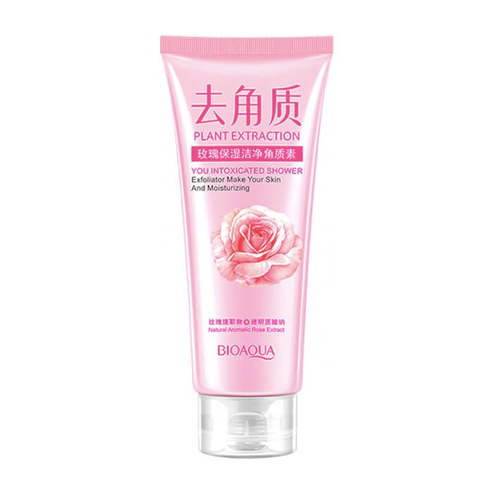 Купить со скидкой Пилинг для лица BioAqua Plant Extraction You Intoxicated Shower Exfoliator Rose