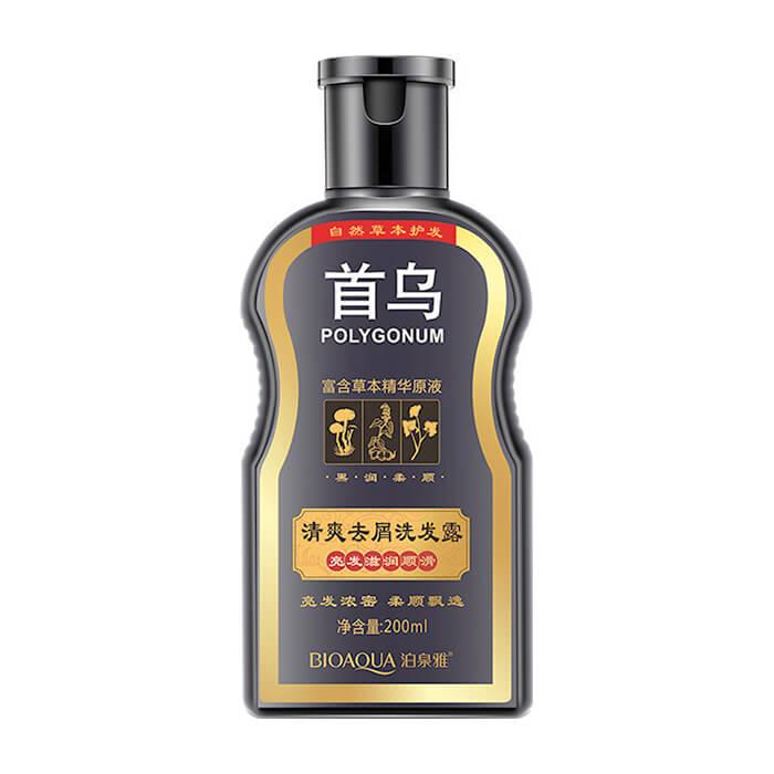 Купить Шампунь для волос BioAqua Polygonum Shampoo, Восстанавливающий шампунь на основе мыльного ореха с корнем горца многоцветкового, Китай