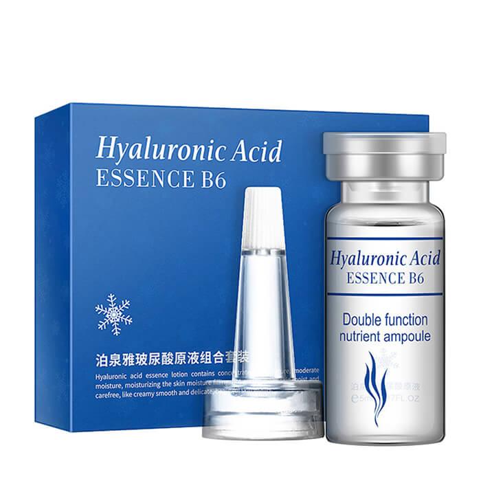 Сыворотка для лица BioAqua Hyaluronic Acid Essence B6 Double Function Nutrient Ampoule Набор из 10 сывороток с гиалуроновой кислотой для различных способов применения фото