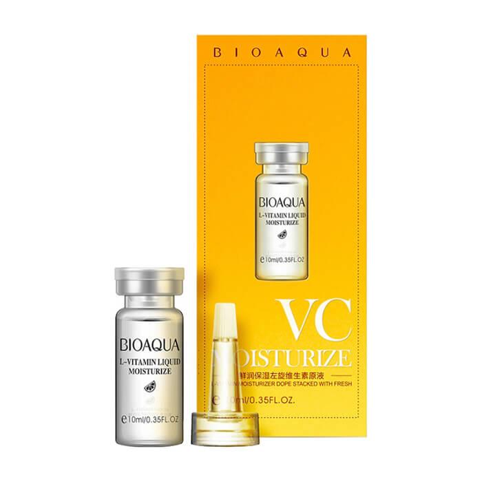 Сыворотка для лица BioAqua L-Vitamin Liquid Moisturizing Serum Выравнивающая сыворотка для кожи лица с гиалуроновой кислотой и витамином С фото