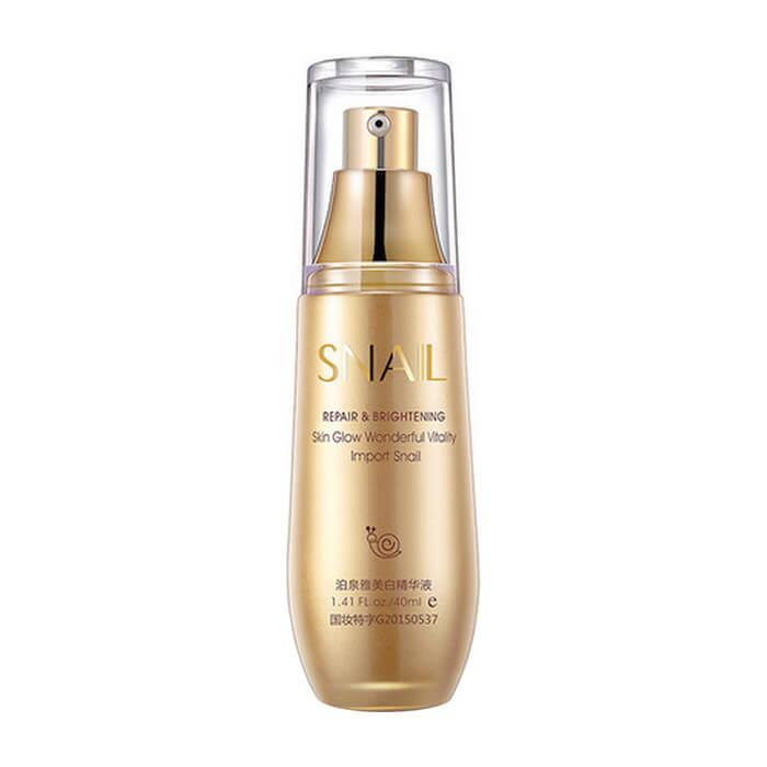 Сыворотка для лица BioAqua Snail Repair & Brightening Skin Glow Wonderful Vitality Serum Восстанавливающая сыворотка для увлажнения и сияния кожи лица с муцином улитки фото