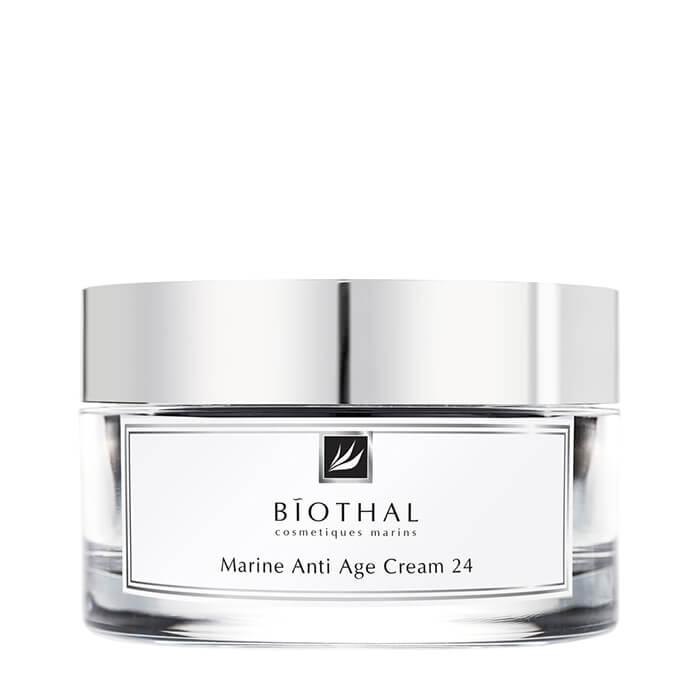 Купить Крем для лица Biothal Marine Anti Age Cream 24, Крем с комплексом активных компонентов для омоложения и регенерации кожи лица, Россия