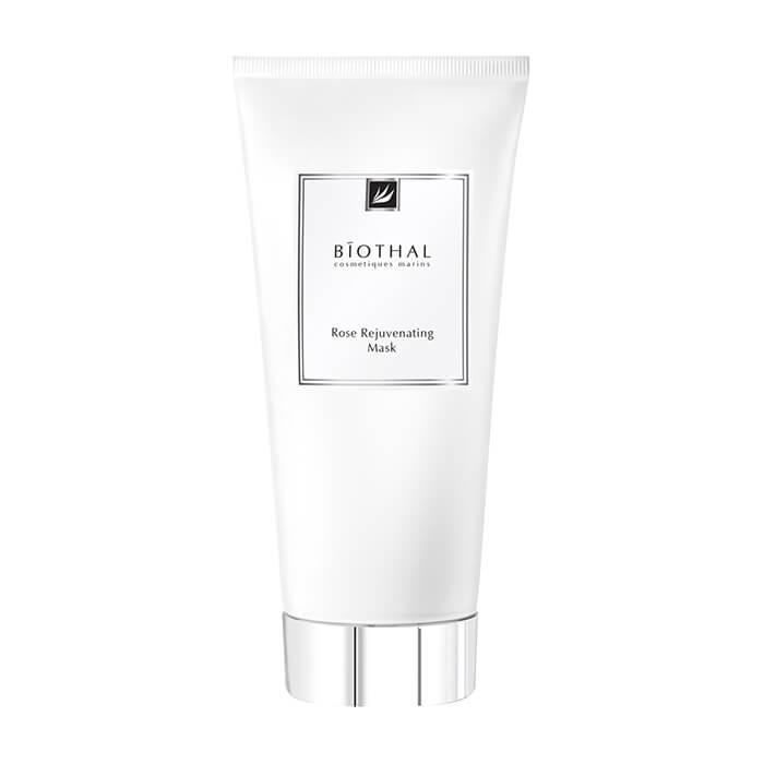 Купить Маска для лица Biothal Rose Rejuvenating Mask, Омолаживающая питательная маска для лица на основе белой глины и экстракта розы, Россия