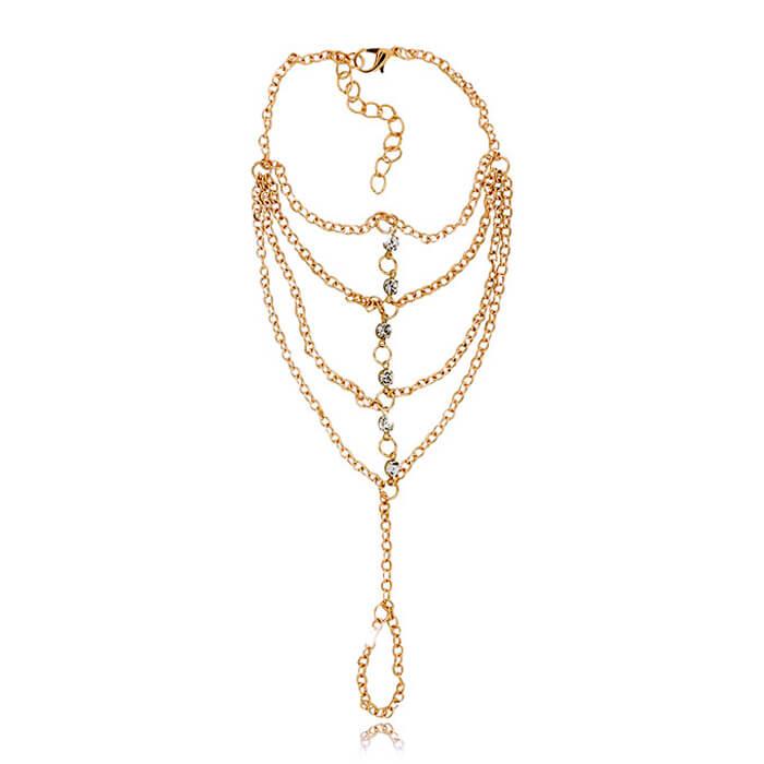 Купить Браслет на руку Mia Collection - Gold Chain, Браслет в виде золотой цепочки с гальваническим покрытием, Бижутерия