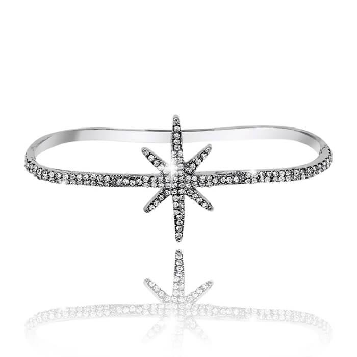 Купить Браслет на руку Mia Collection - Star, Браслет Звезда с гальваническим покрытием и стразами Сваровски, Бижутерия