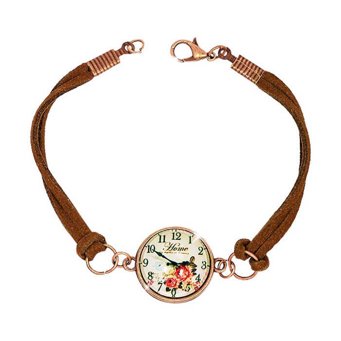 Купить Браслет на руку Trendy Candy - Clock, Браслет с бронзовым покрытием и художественным чернением, Бижутерия