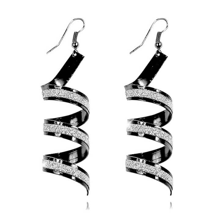 Купить Серьги Mia Collection - Spiral, Краивые серьги в виде спиралей, Бижутерия