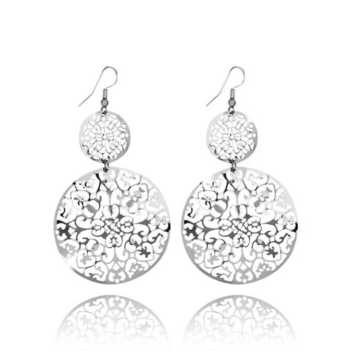 Купить Серьги Mia Collection, Серьги под серебро с гальваническим покрытием, Бижутерия