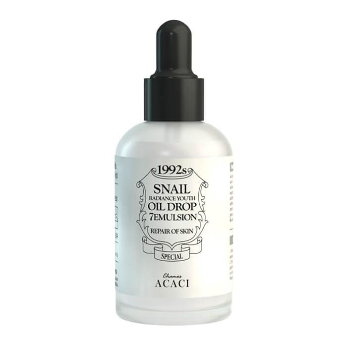 Купить Эмульсия для лица Chamos Acaci Snail Radiance Youth Oil Drop 7 Emulsion, Антивозрастная эмульсия для лица с экстрактом слизи улитки, Южная Корея