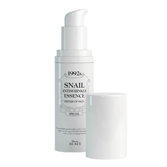 Эссенция для лица Chamos Acaci Snail Anti-Wrinkle Essence Антивозрастная эссенция против морщин для лица с муцином улитки фото