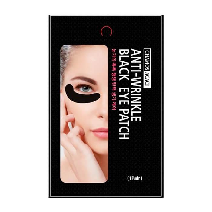 Купить Патчи для век Chamos Acaci Anti-Wrinkle Black Eye Patch, Патчи для кожи вокруг глаз против морщин и темных кругов, Южная Корея